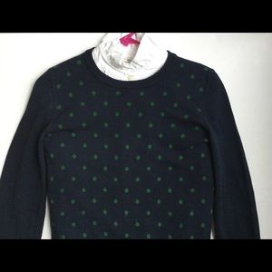 Polka dot navy sweater women's small Tommy H